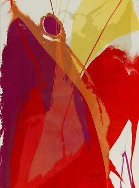 6: Paul Jenkins Color Lithograph.