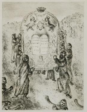 10: Chagall: ''Crossing the Jordan'' & 10 commandments.