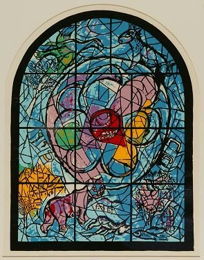 11: Marc Chagall: Serigraph of a stained glass window.