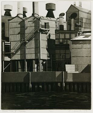 18: Hurwitz: 8 etchings (7 from ''Thames Series'').