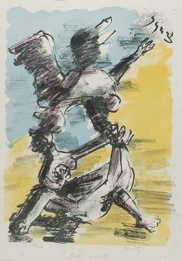 20: Jacques Lipchitz, ''Zion,'' color litho, 187/200.