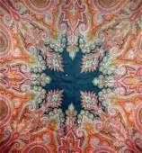 158: Continental machine-woven wool paisley shawl.