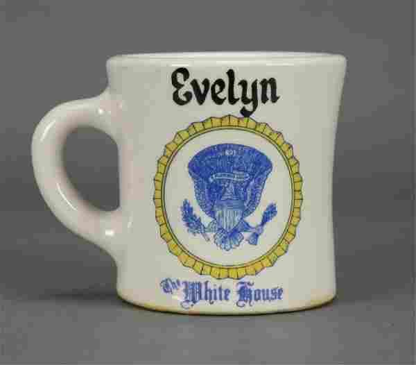 Evelyn Lincoln Mug, JFK's secretary. c 1960-63.