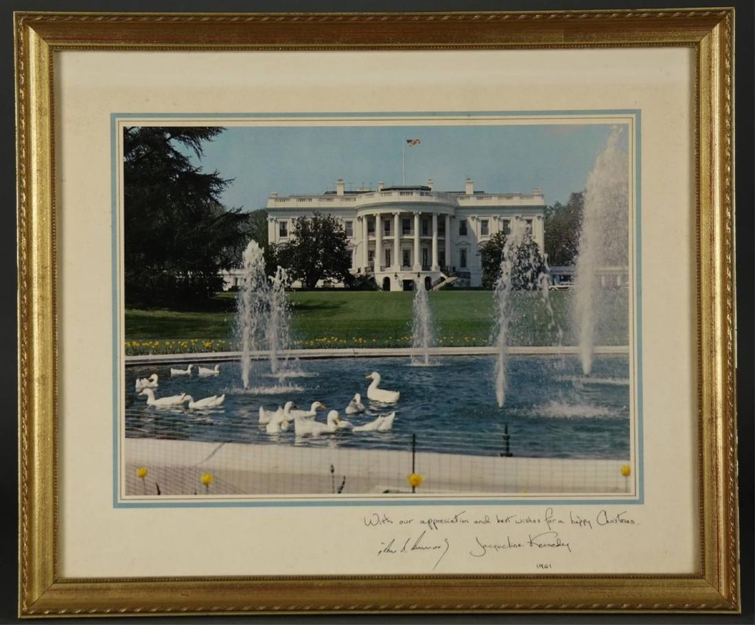 Kennedy White House Staff Christmas Card. 1961.