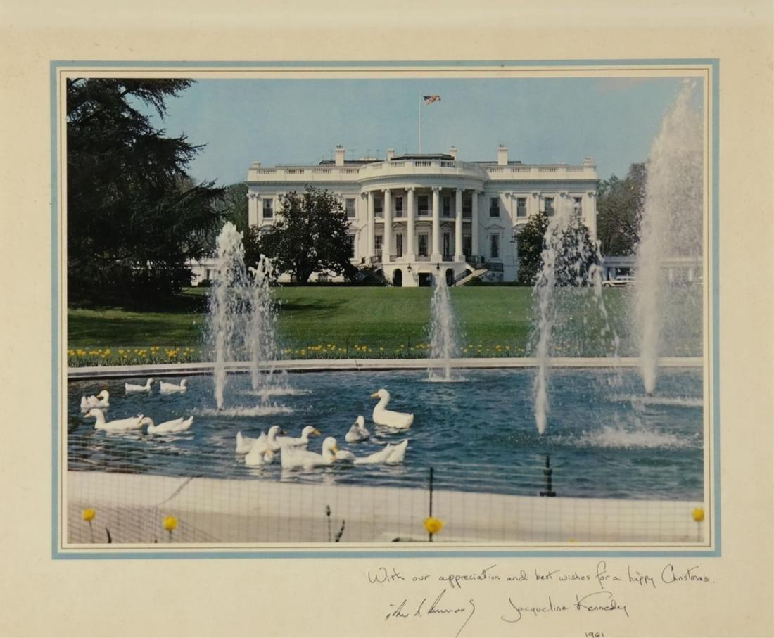 Kennedy White House Staff Christmas Card. 1961. - 2