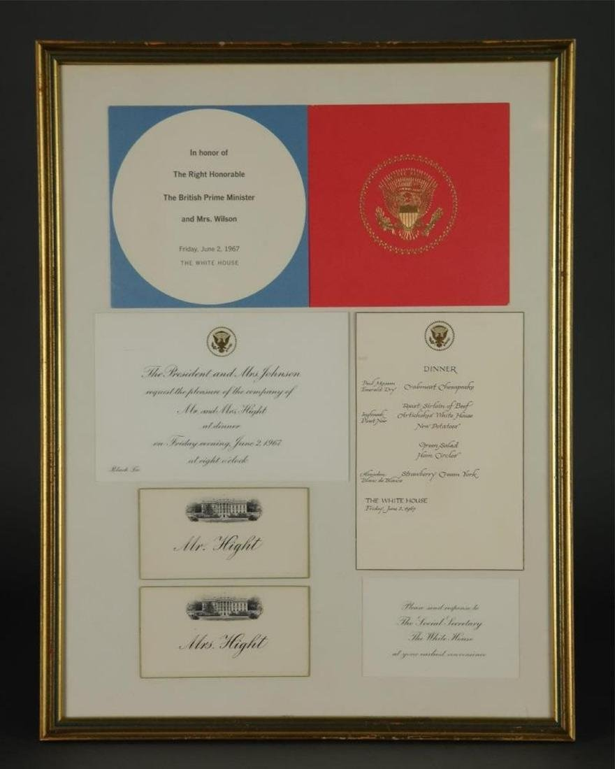 3 Presidential items. Inc: Johnson Photograph. Sgd - 3