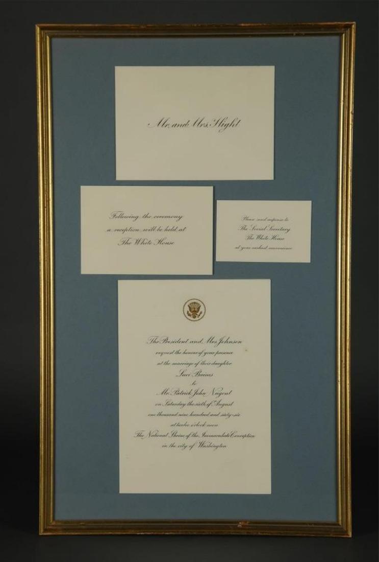 3 Presidential items. Inc: Johnson Photograph. Sgd - 4