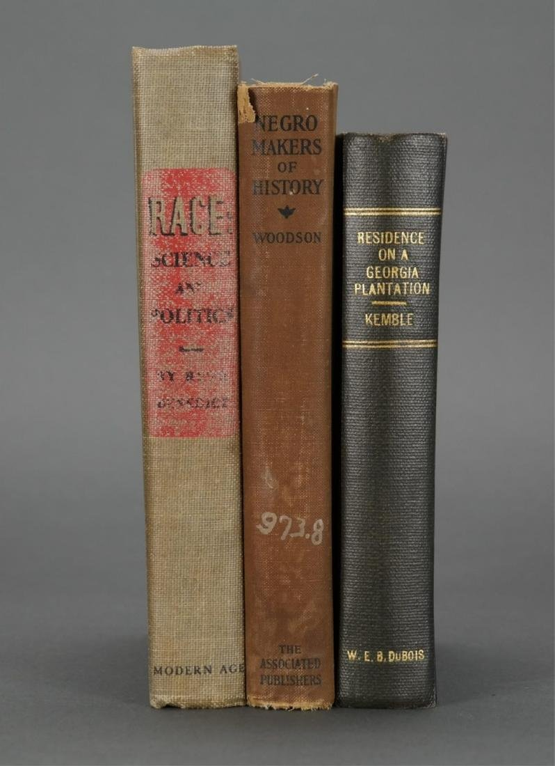 3 books owned by W.E.B. Du Bois. - 2
