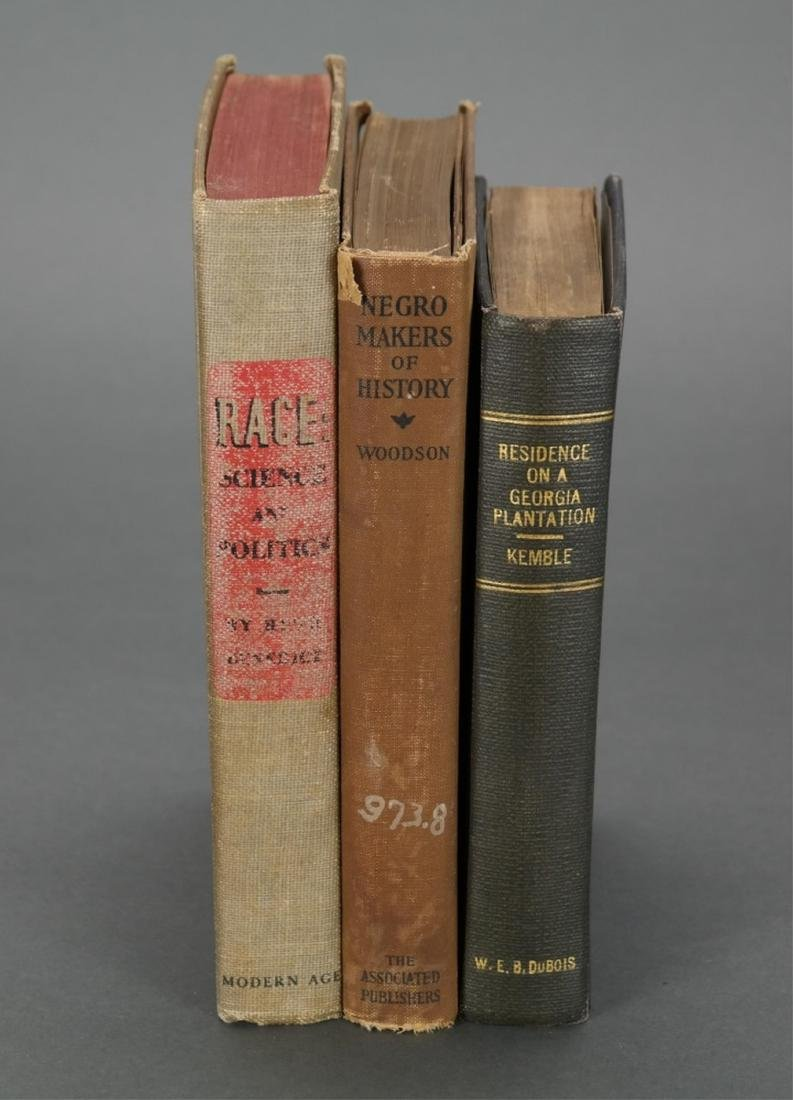 3 books owned by W.E.B. Du Bois. - 9