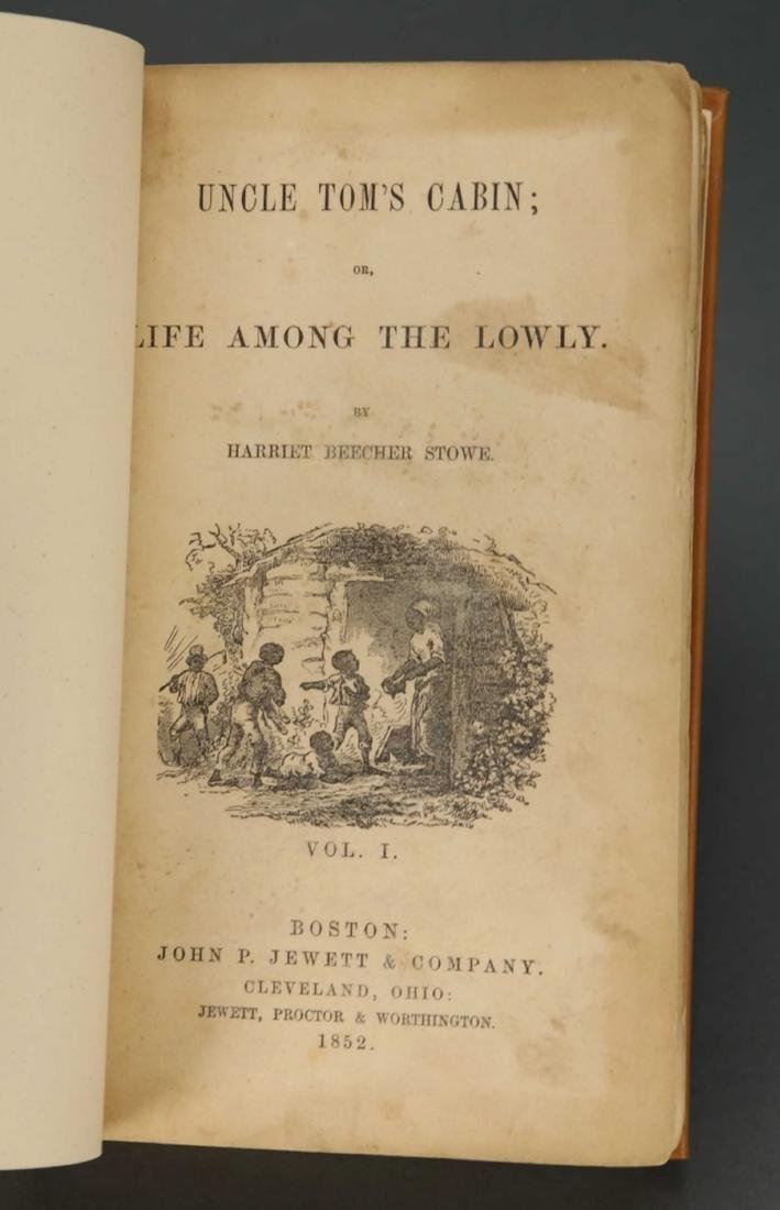 Stowe. Uncle Tom's Cabin. 1st ed, 1st printing. - 3