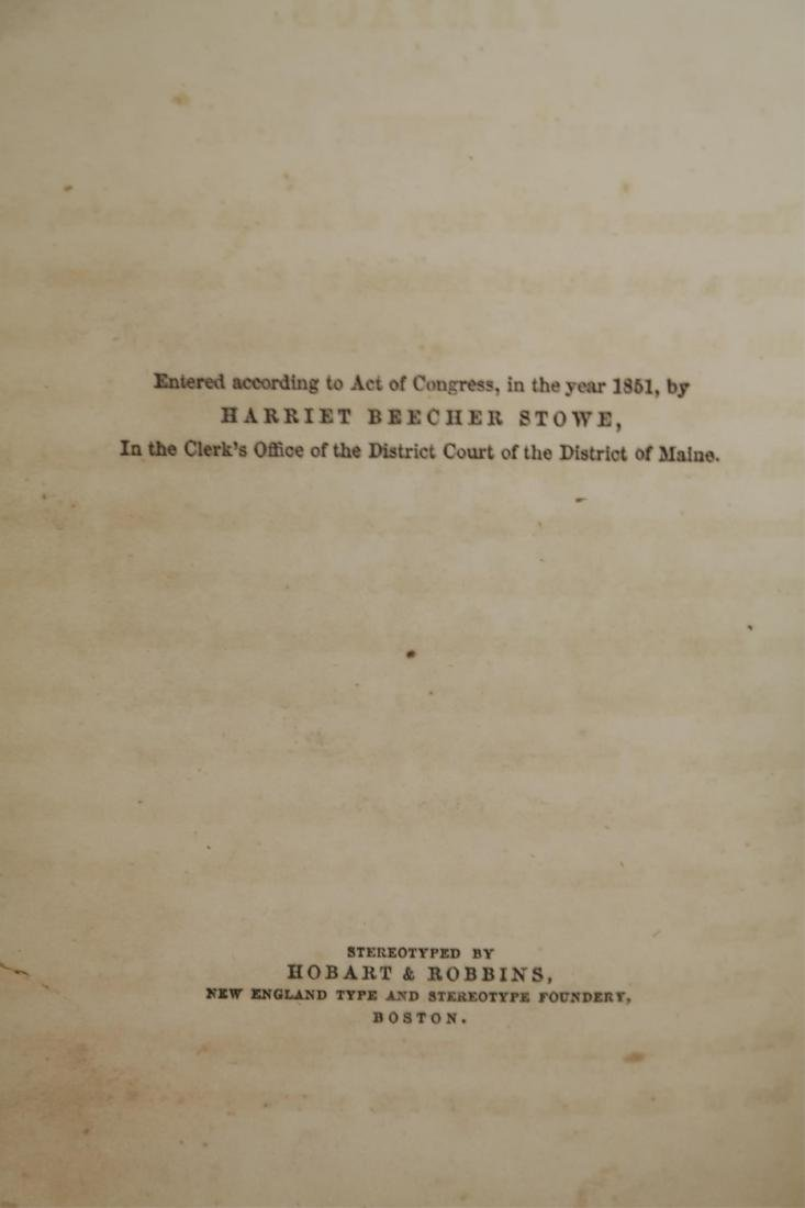 Stowe. Uncle Tom's Cabin. 1st ed, 1st printing. - 5