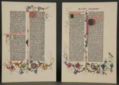 Cooper Square Gutenberg Bible Facsimile 18 Leaves