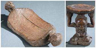 2 Central African utilitarian objects. 20th c.