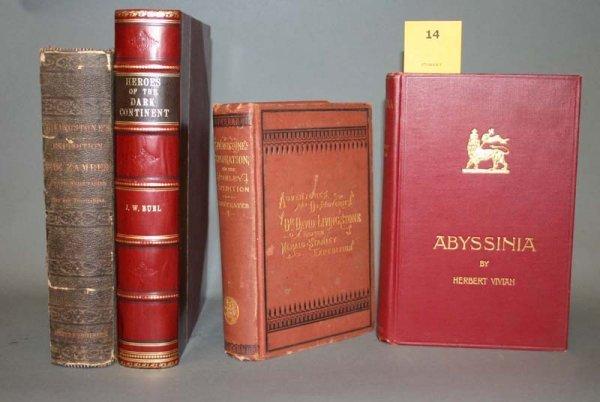 2014: Africa: 4 books, 1866-1901. Livingstone, et. al.