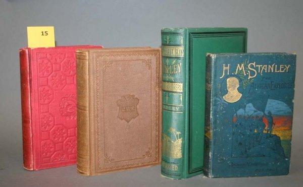 2015: Africa: 4 books, 1856-1878. Stanley, Wilson, Bart
