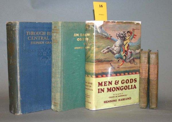 2016: 4 books (5 vols) on central Asia: 1795-1935.