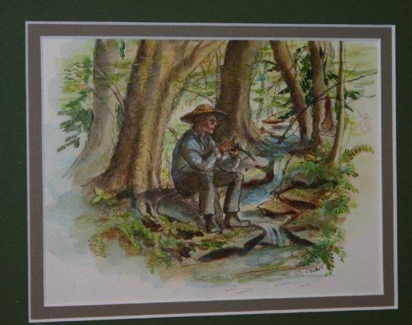 2209: Tasha Tudor watercolor from Carrie's Gift