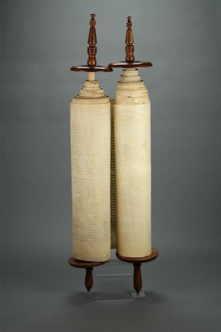 Torah Scroll. Non-Kosher. Origin Eastern Europe.