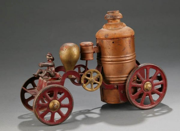 2017: Antique Wood & Cast Iron Fire Pumper