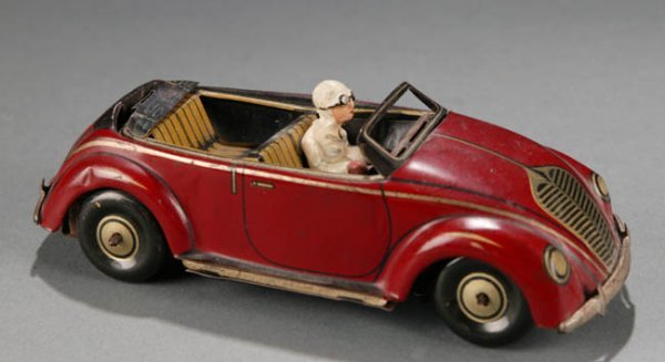 2019: German CKO Tin Litho Flip Top Toy Car