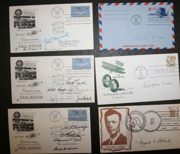 1004: 15 envelopes, mostly signed by aviators.