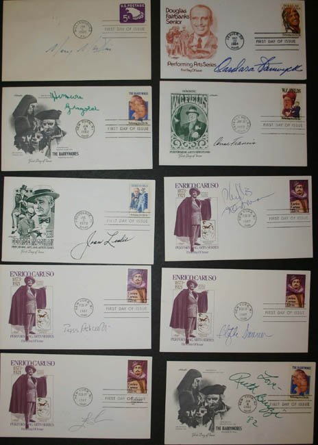 1015: 22 FDC's signed by actresses
