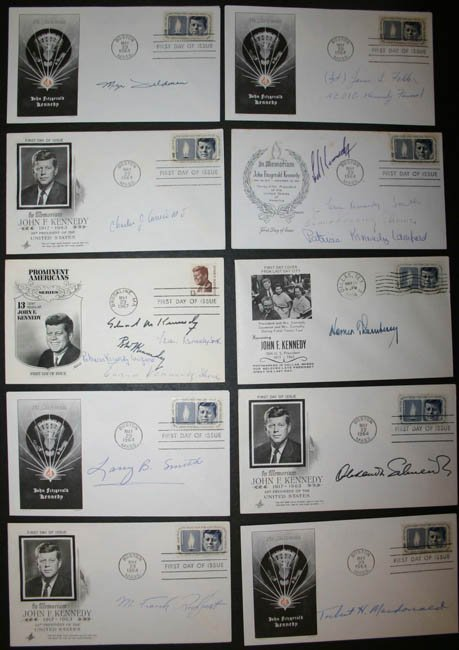 1022: About 86 signed envelopes, Kennedy related