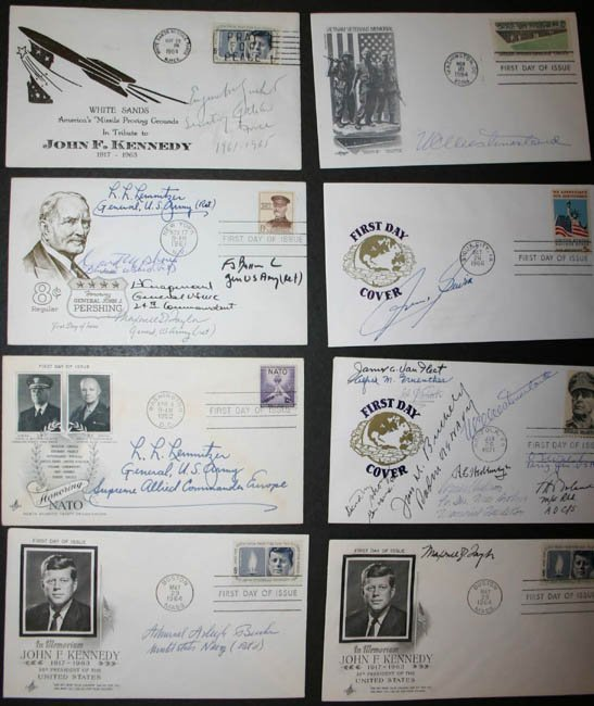 1023: 24 mostly FDC signed by Generals, others