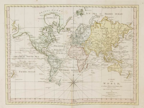 1293: Dunn, A Chart of the World, 1774