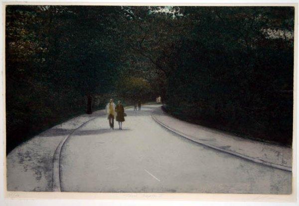 2: Altman Three Couples II color aquatint #125/150