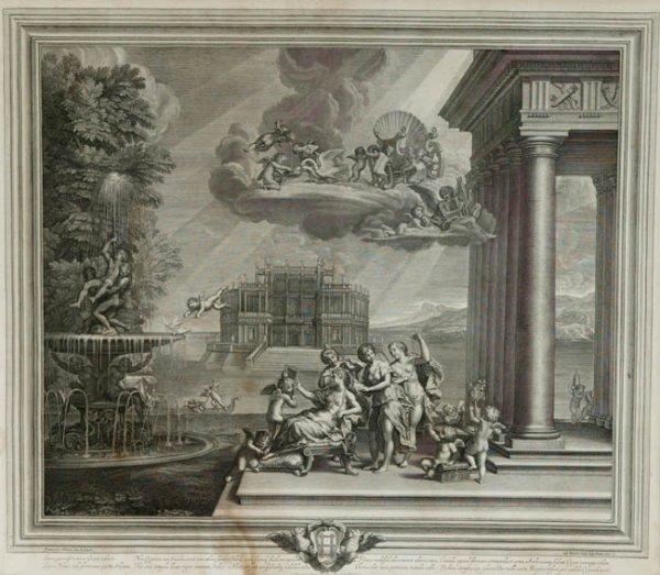 6: Albani, cupid scene symbolizing water, 1672.