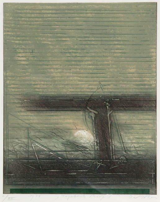 7: Dahmen, Tagebuch Marz, color etching signed