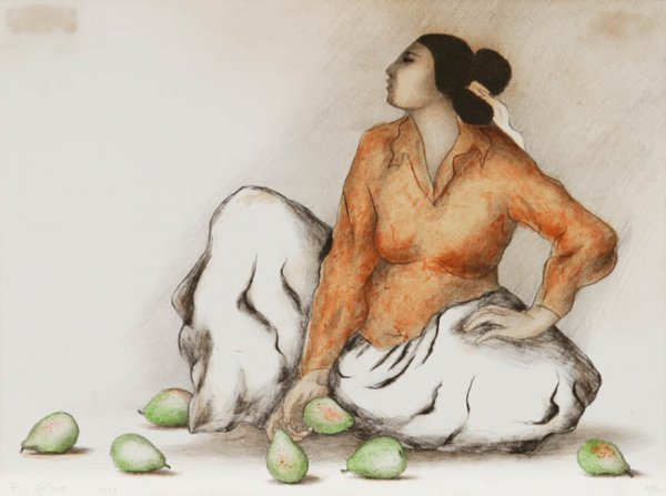 15: R. C. Gorman: Woman with pears.