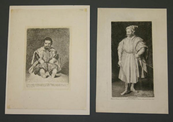 16: 2 etchings by Goya after Velazquez