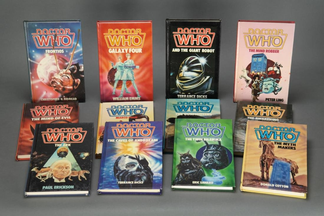 12 vols Doctor Who. 1st Hardcover Editions.