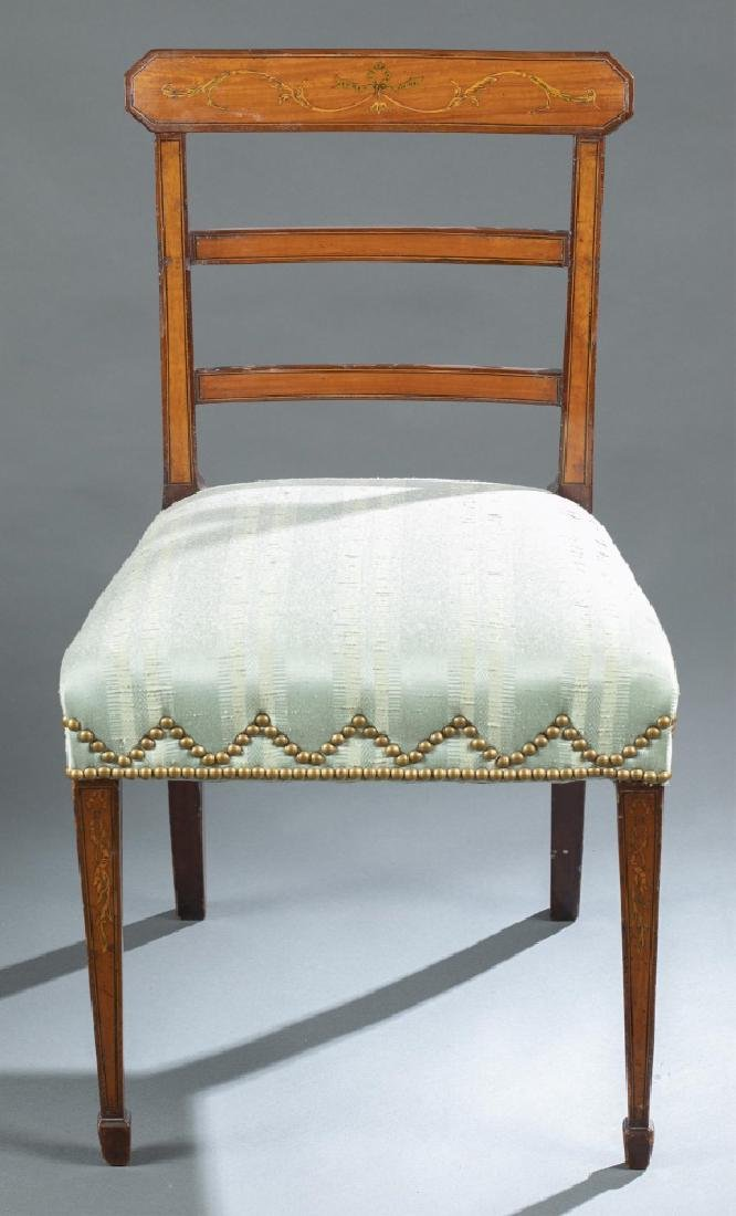 English Regency style, side chair, circa 1810.