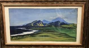 Grace H. Turnbill, Attrib, Landscape, 20th c., O/C