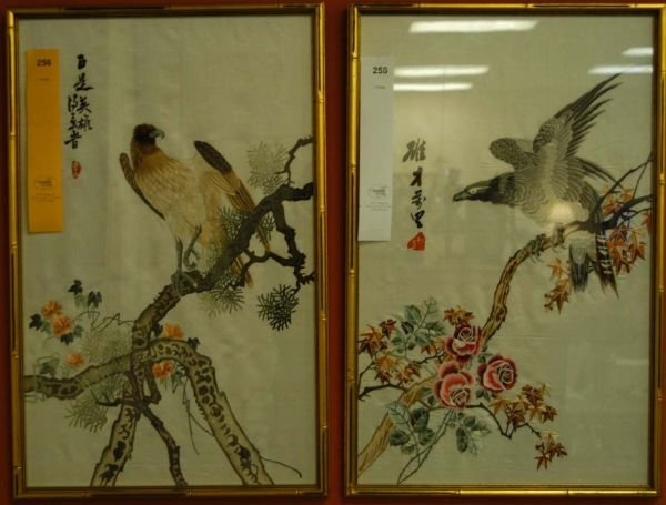 256: [Birds]. 2 Color Lithographs.