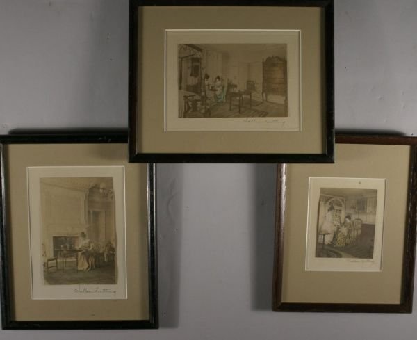 273: Nutting, Wallace. 3 Color Photographs.