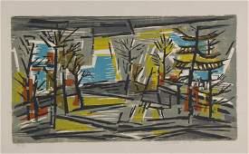 Werner Drewes. Woodcut. Dawn of Spring. 1971.