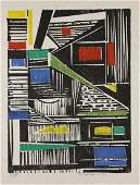 Werner Drewes. Woodcut. Entanglement. 1976.