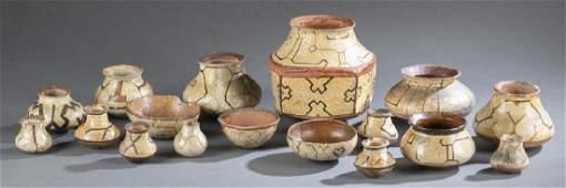 17 Amazon Basin style ceramic vessels 20th c