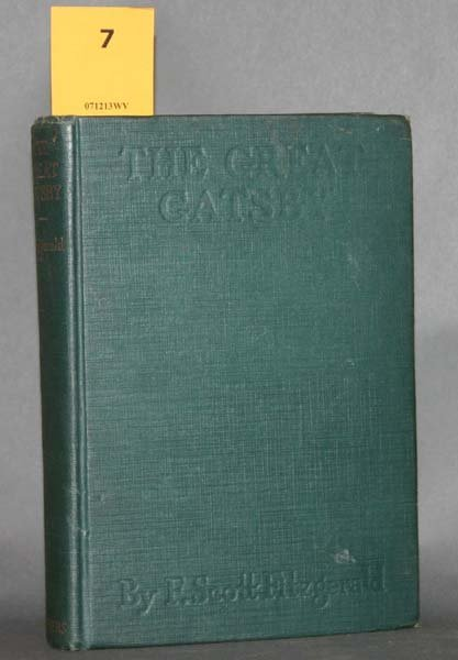 7: Fitzgerald, The Great Gatsby. 1st issue