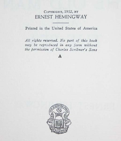 15: Hemingway, THE OLD MAN AND THE SEA, 1952, NF in dj - 2