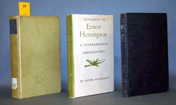 17: Hemingway Bibliographies: 3 vols