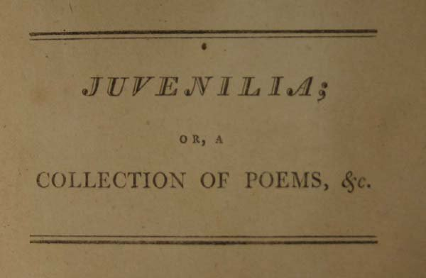 21: Leigh Hunt, JUVENILIA. Lon: J. Whiting, 1801 - 3