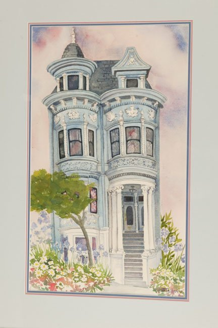 1020: JK Talbot San Francisco area watercolor, 13 x 21.