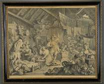 Pair of Hogarth Prints O Roast Beef Strolling