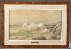 Edmund Darch Lewis, Seascape, 1907, Watercolor.