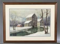 Melville F. Stark, Winter Landscape, 20th c.
